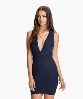 Low V Jaquard Dress